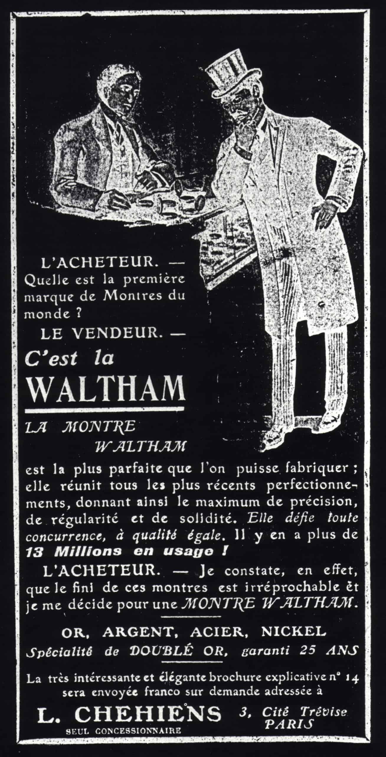 American Waltham Inserat 1907