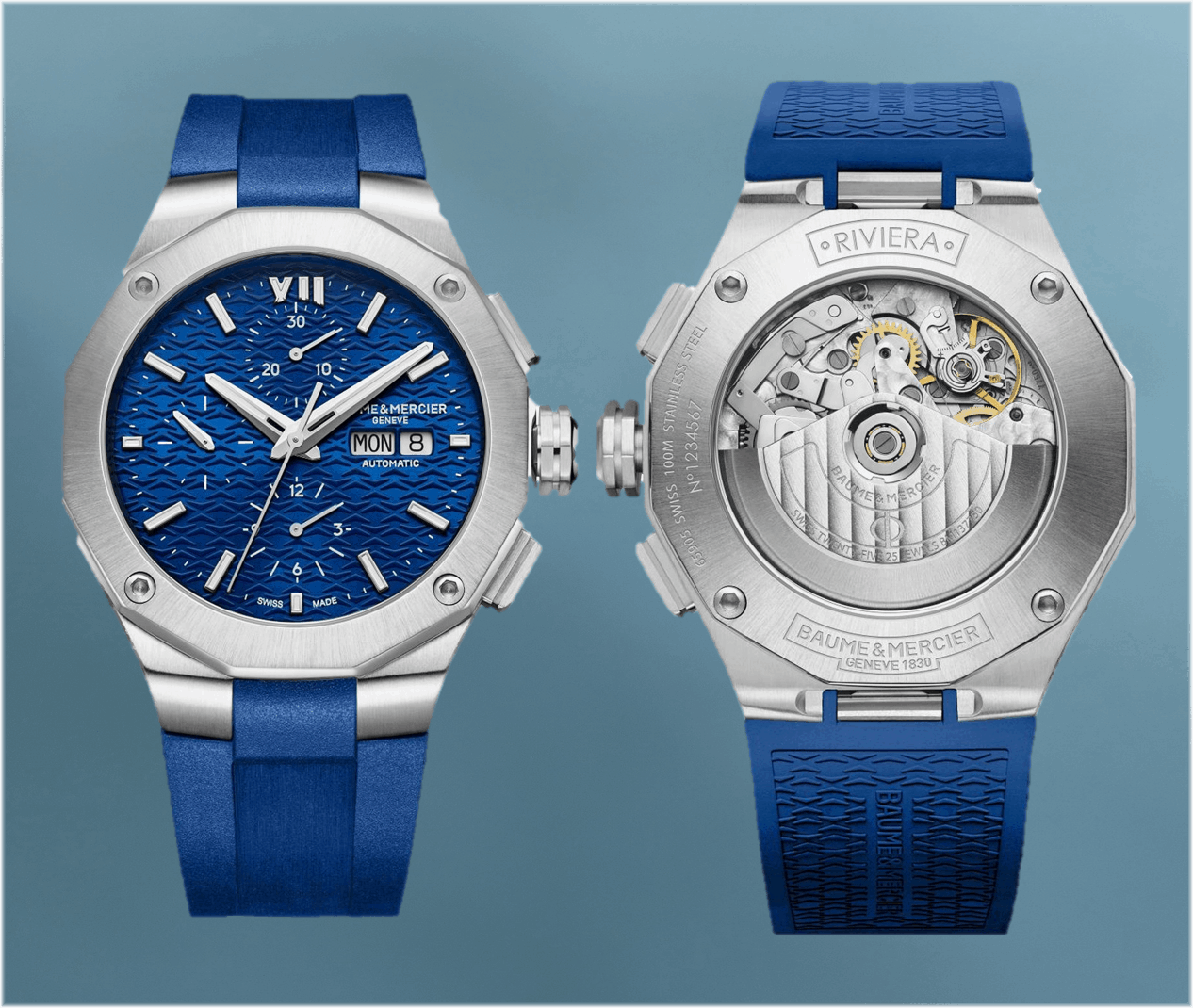 Blaue Riviera mit Automatik-Chronographen Kaliber von 2021