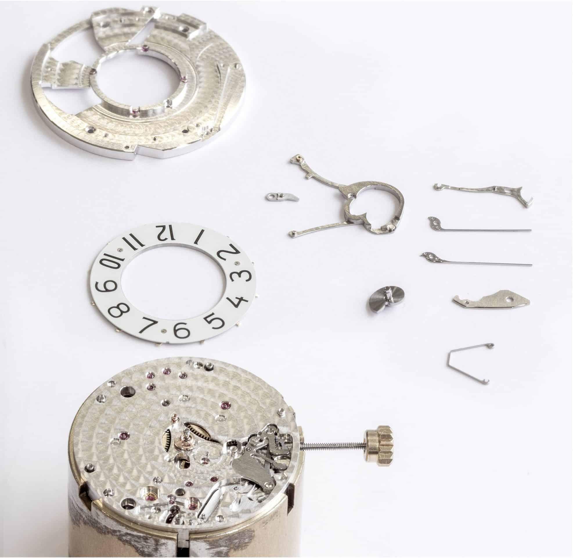 L.U.C 98.01-L Komponenten für springende digitale Stundenanzeige