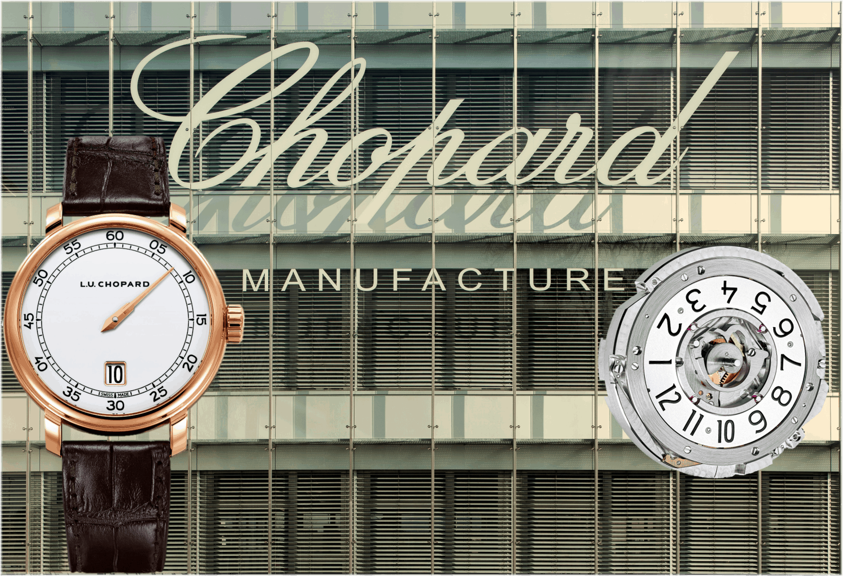 25 Jahre Chopard L.U.C ManufakturViererpack: Chopard L.U.C Quattro Spirit 25 mit Handaufzugskaliber 98.06-L mit gleich 4 Federhäusern