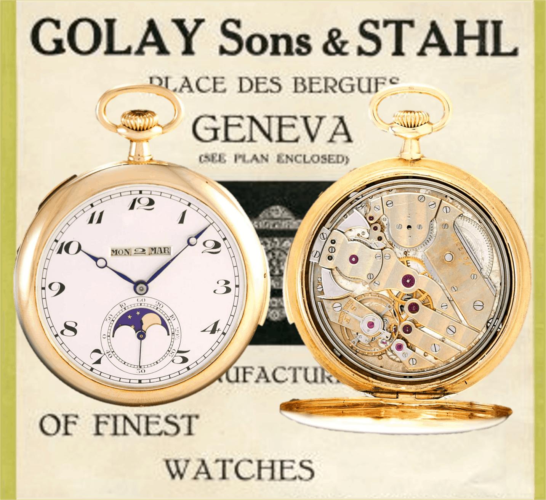 Golay Fils & Stahl QP Mondphase RepMin ca 1930