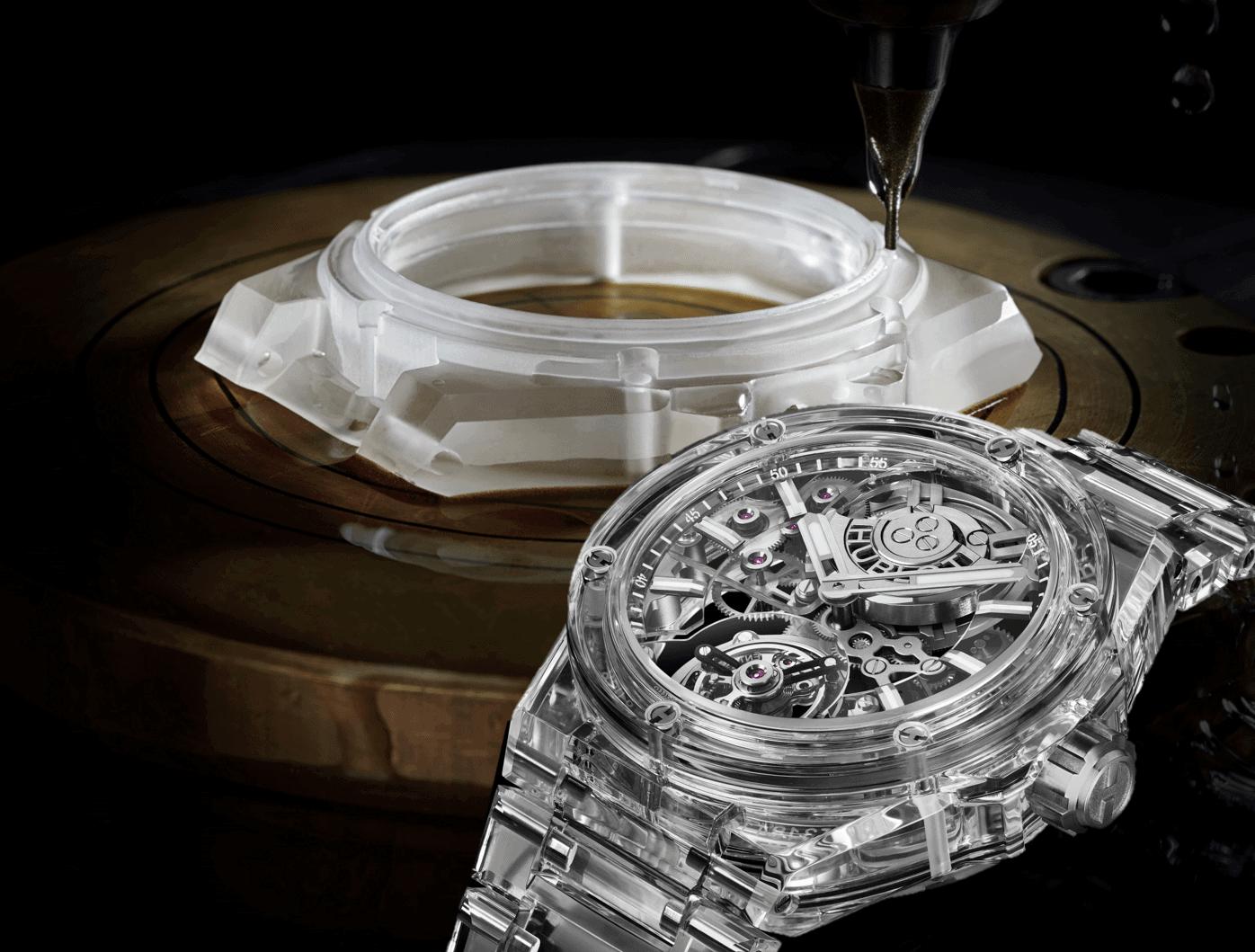 Transparente Uhr aus künstlichem SaphirHublot Big Bang Integral Tourbillon Full Sapphire