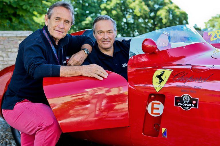 Karl-Friedrich Scheufele and Jacky Ickx  bei der Mille Miglia in 2012