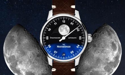 MeisterSinger Stratoscope Einzeigeruhr: Eine Mondphasenuhr zum 20. Geburtstag