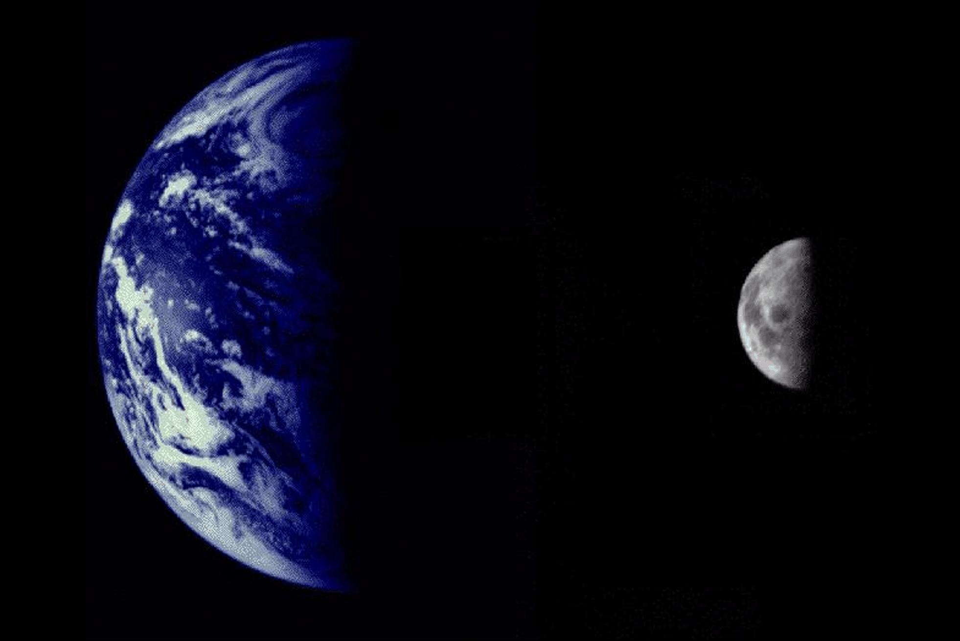 Abnehmende Mondphase im letzten Viertel