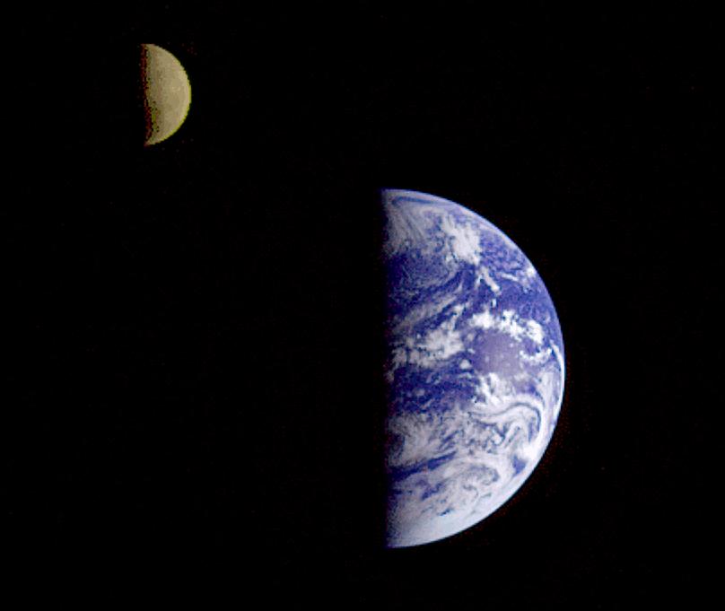 Mondphase mit zunehmendem Halbmond
