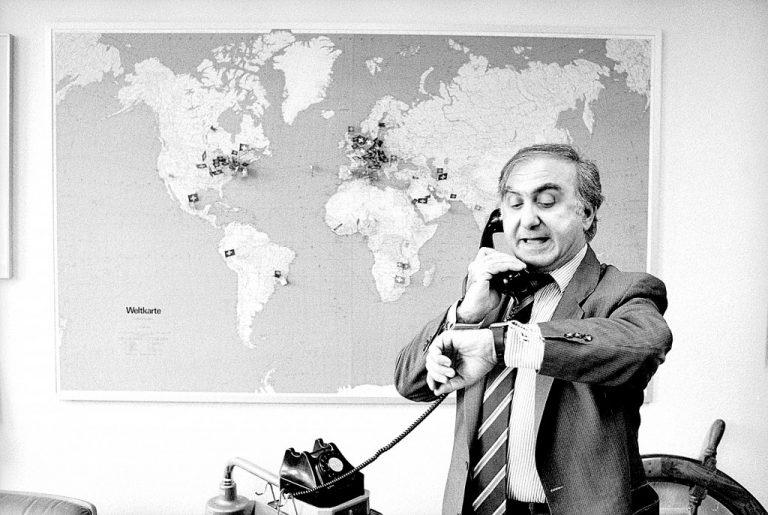 Nicolas Hayek mit Orten der Beratungsmandate