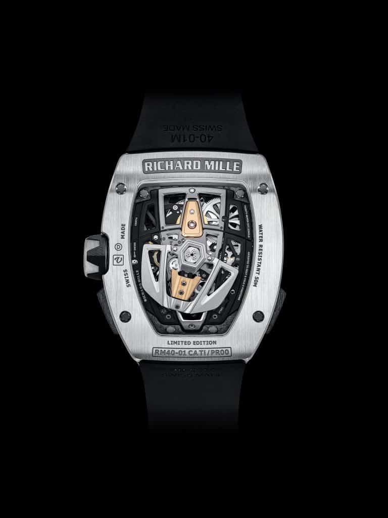 Rückseite mit Saphirglasboden Richard Mille RM 40-01