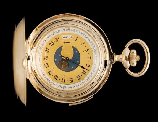 Diese Taschenuhr mit arabischem Kalender restaurierte Michel Parmigiani 2016
