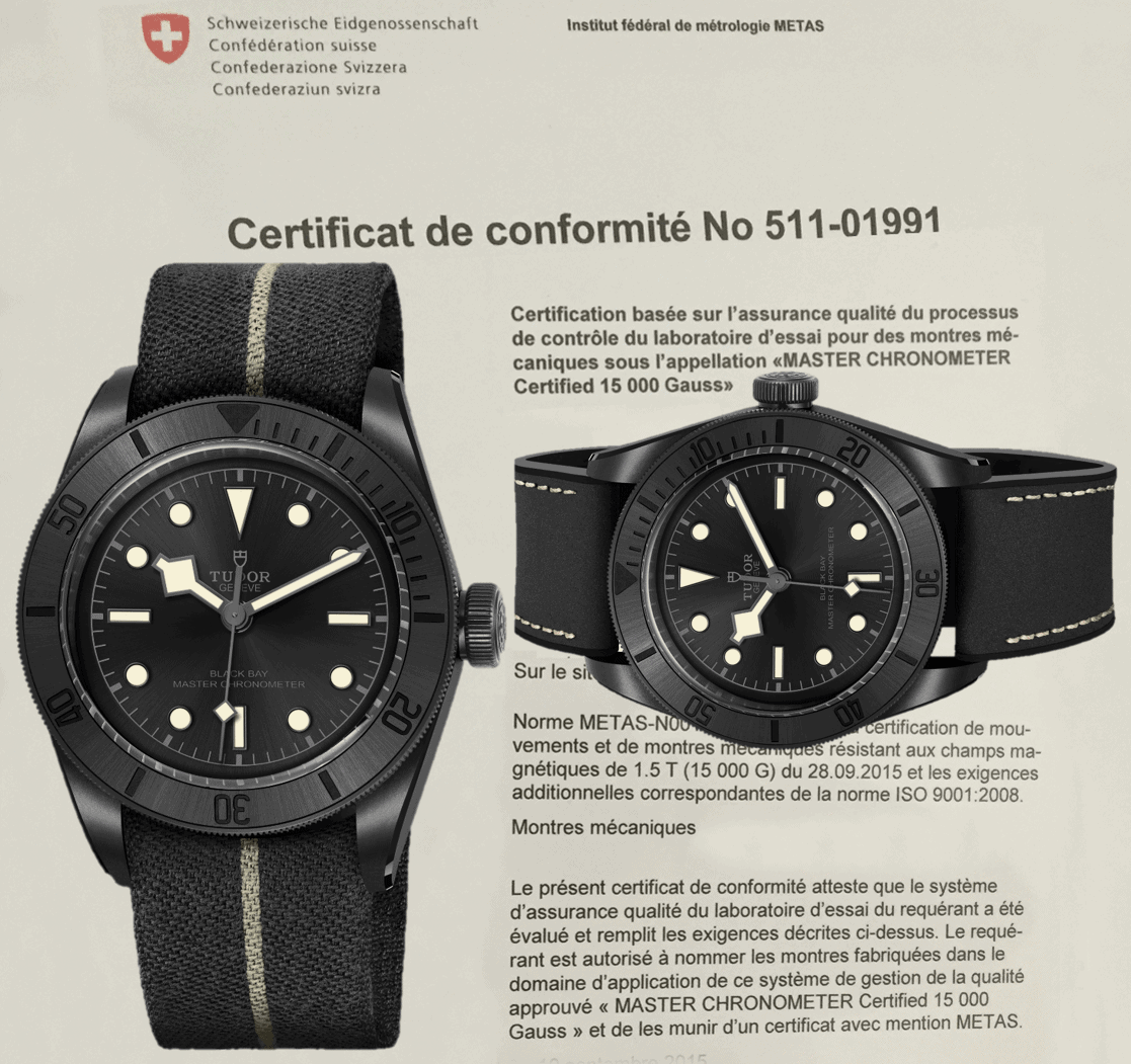 COSC und METAS zertifizierten Black Bay Ceramic Master Chronometer, Referenz 79210CNU, ab sofort mit zwei Armbändern