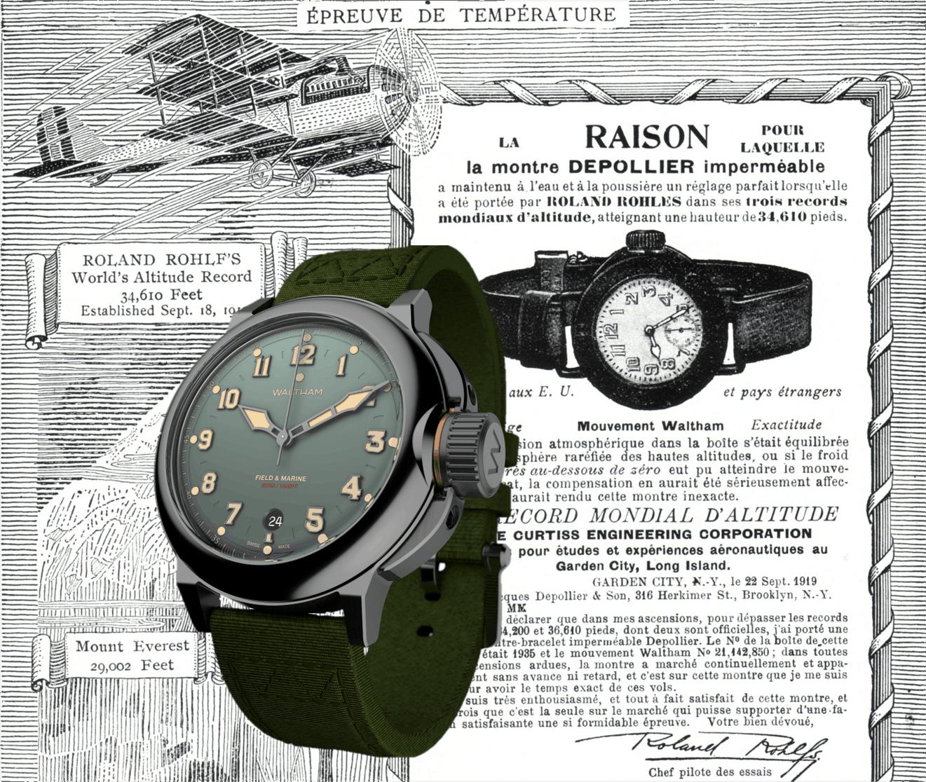 Uhrenmarke Waltham Waltham Field Marine: Die Neuauflage einer fast vergessenen Marke