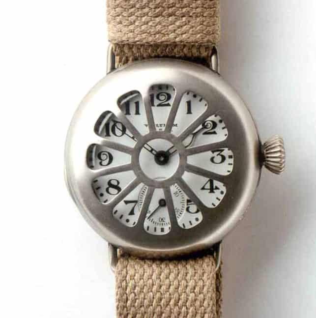 Besondere Waltham Schuetzengraben Armbanduhr von circa 1915