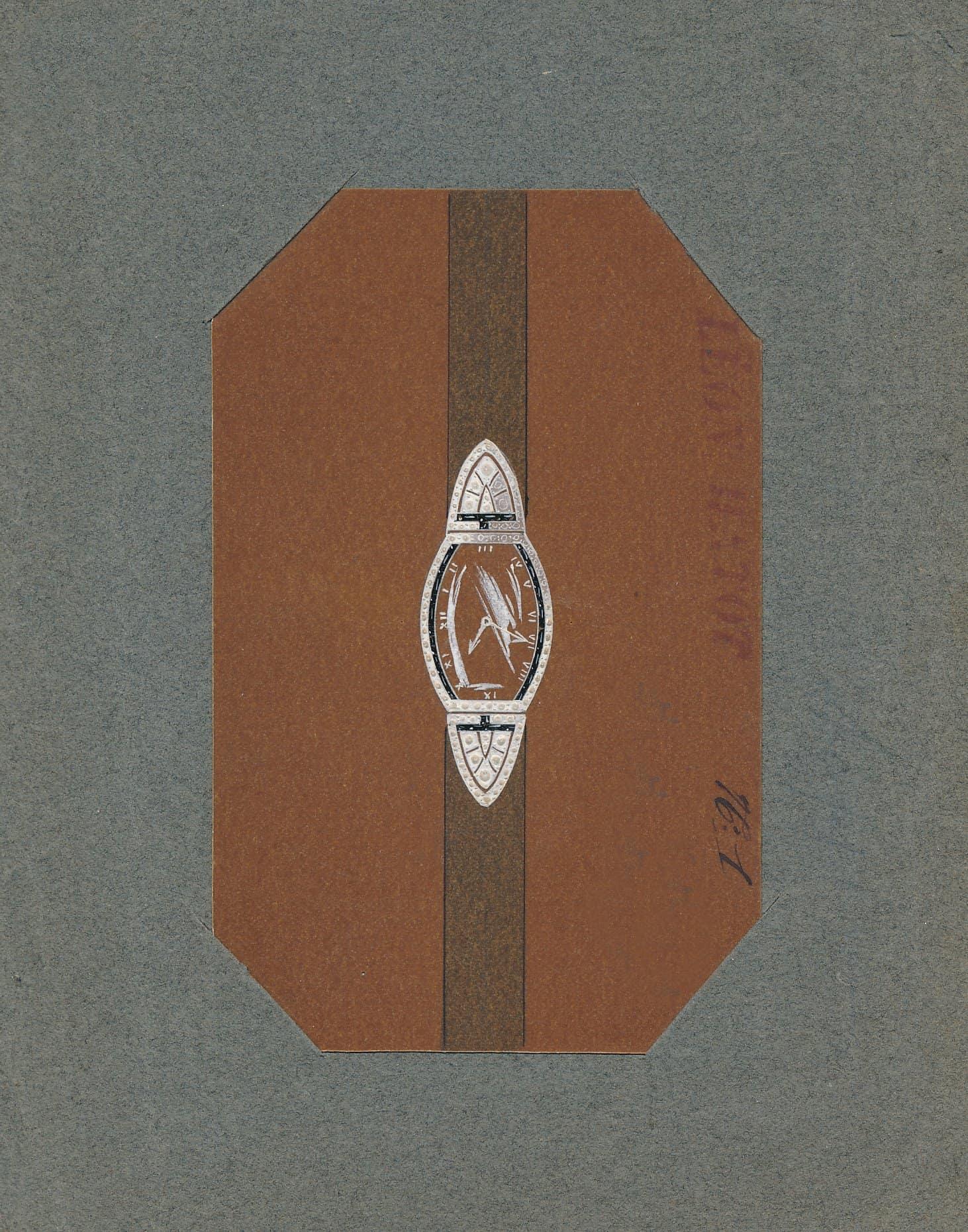 Armbanduhrendesign Léon Hatot 1921