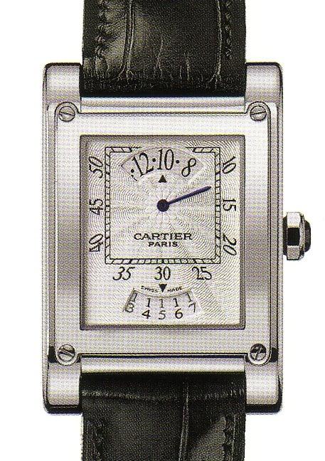 Die Cartier CPCP Tank a Vis mit digitaler Stundenanzeige