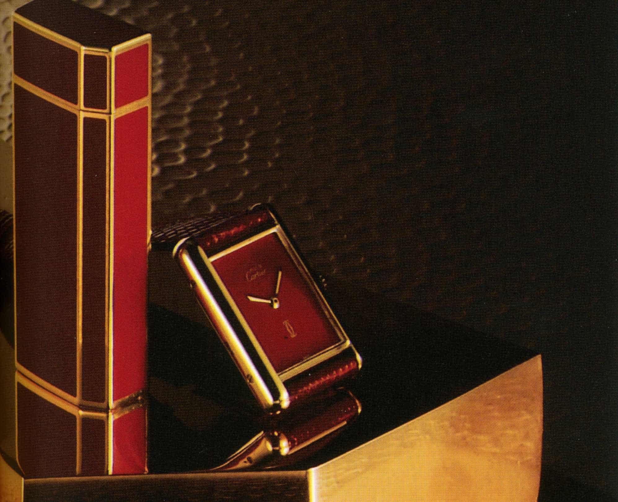 Cartier Must de Cartier Linie mit Feuerzeug, Uhr und weiteren Produkten von 1979