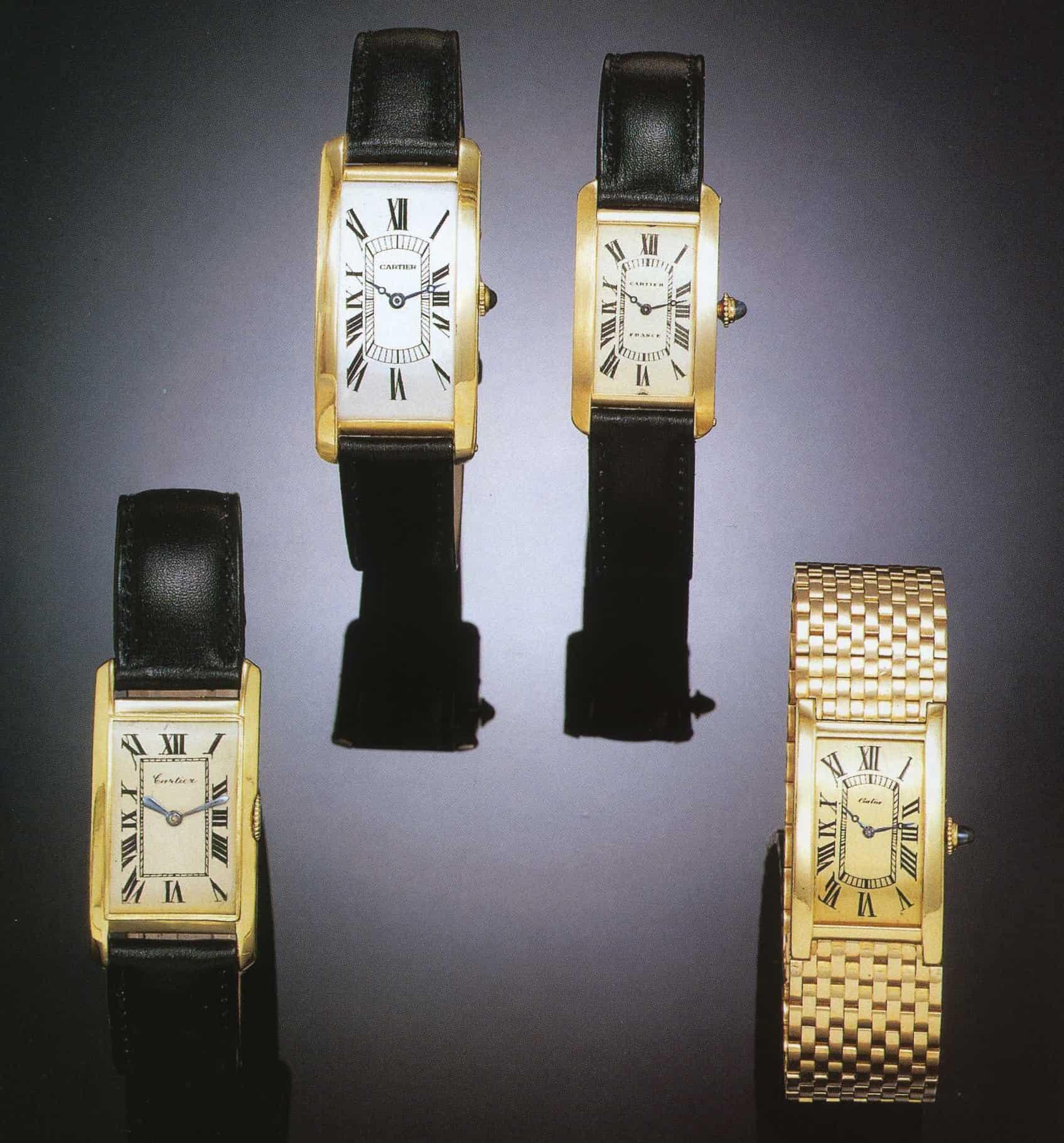 Cartier Tank Cintree von 1926, 1929, 1937 und 1942