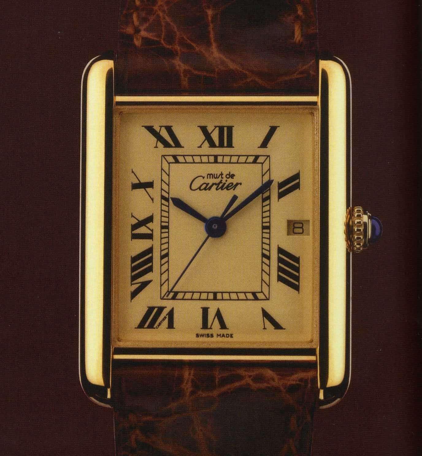 Die erste Les Must de Cartier Tank Uhr von 1977