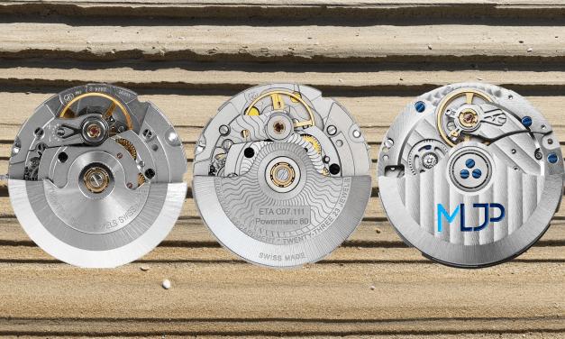 Eta 2824 Automatikkaliber und seine modernen Wettbewerber