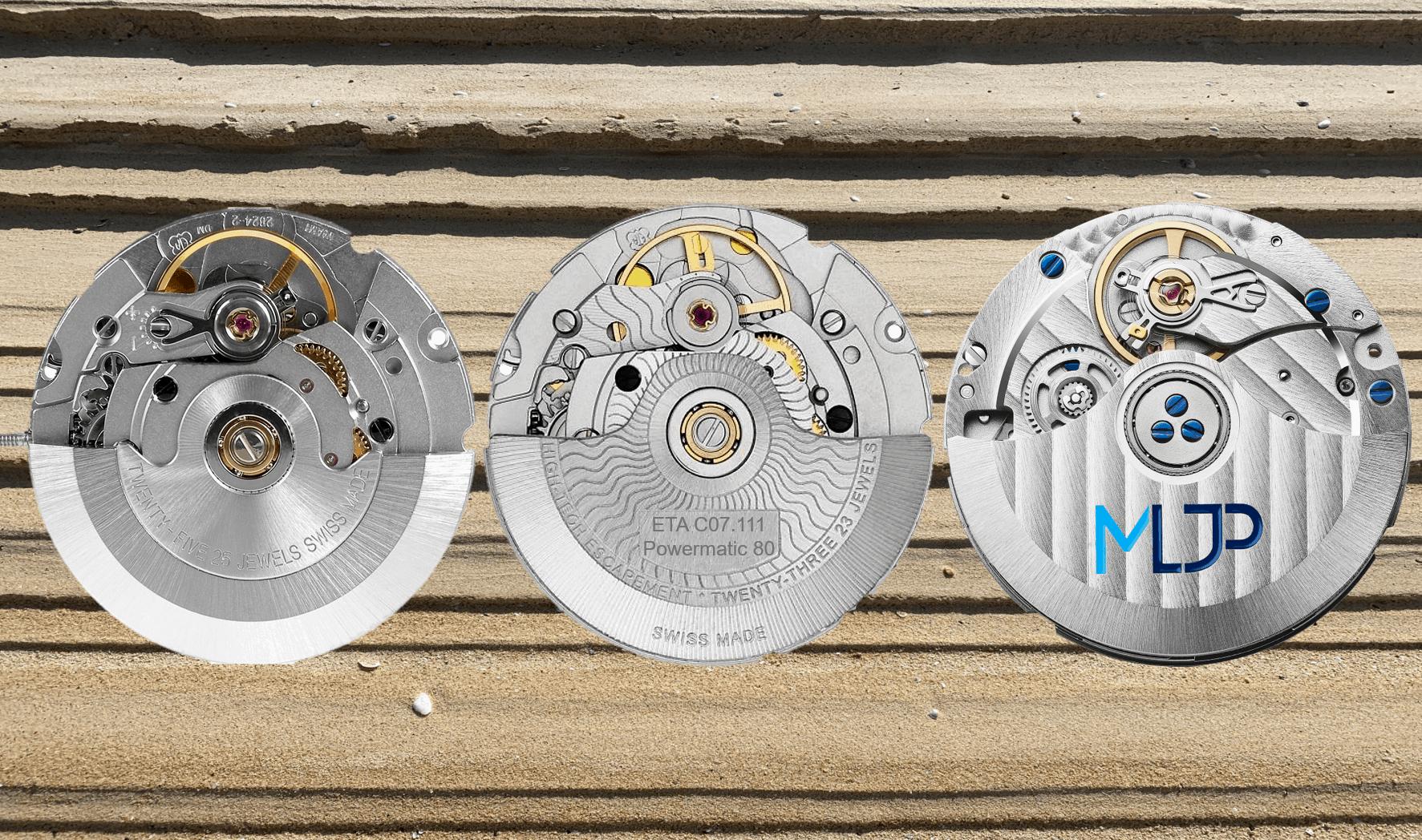 Bewegung im Markt der Uhrwerk-HerstellerEta 2824 Automatikkaliber und seine modernen Wettbewerber