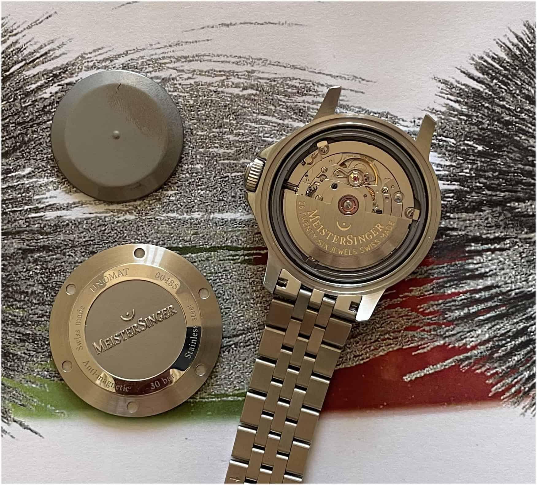 Unomat anti magnetic mit zwei Gehäuseböden