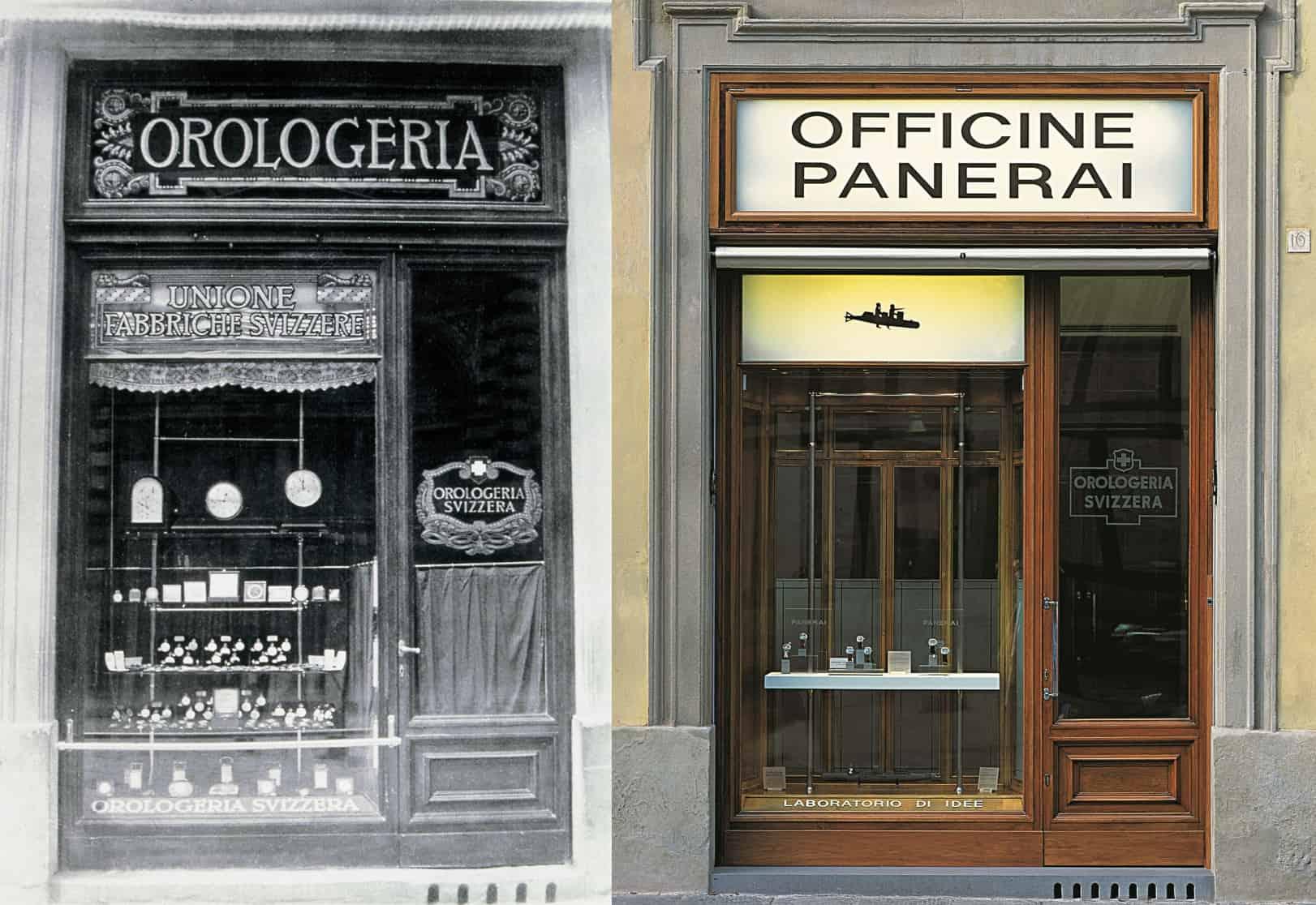 Panerai Orologeria Svizzera in Florenz einst und jetzt