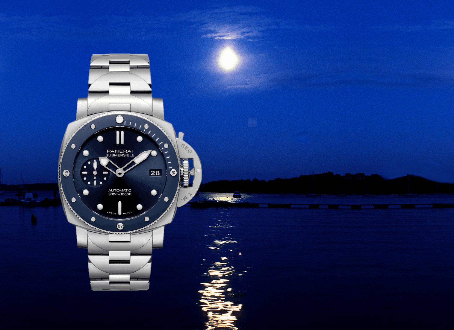Panerai Submersible Blu Notte PAM01068 (C) Uhrenkosmos