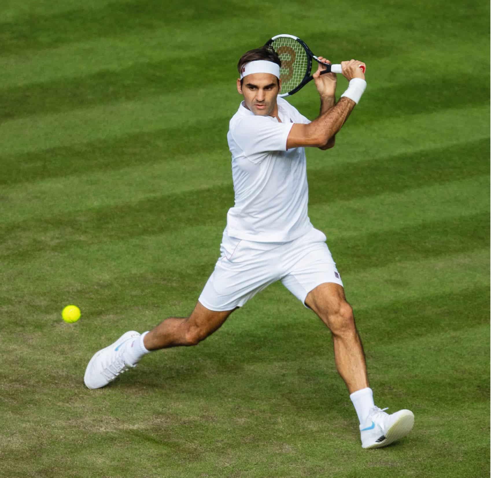 Roger Federer auf seinem Lieblingsuntergrund Rasen
