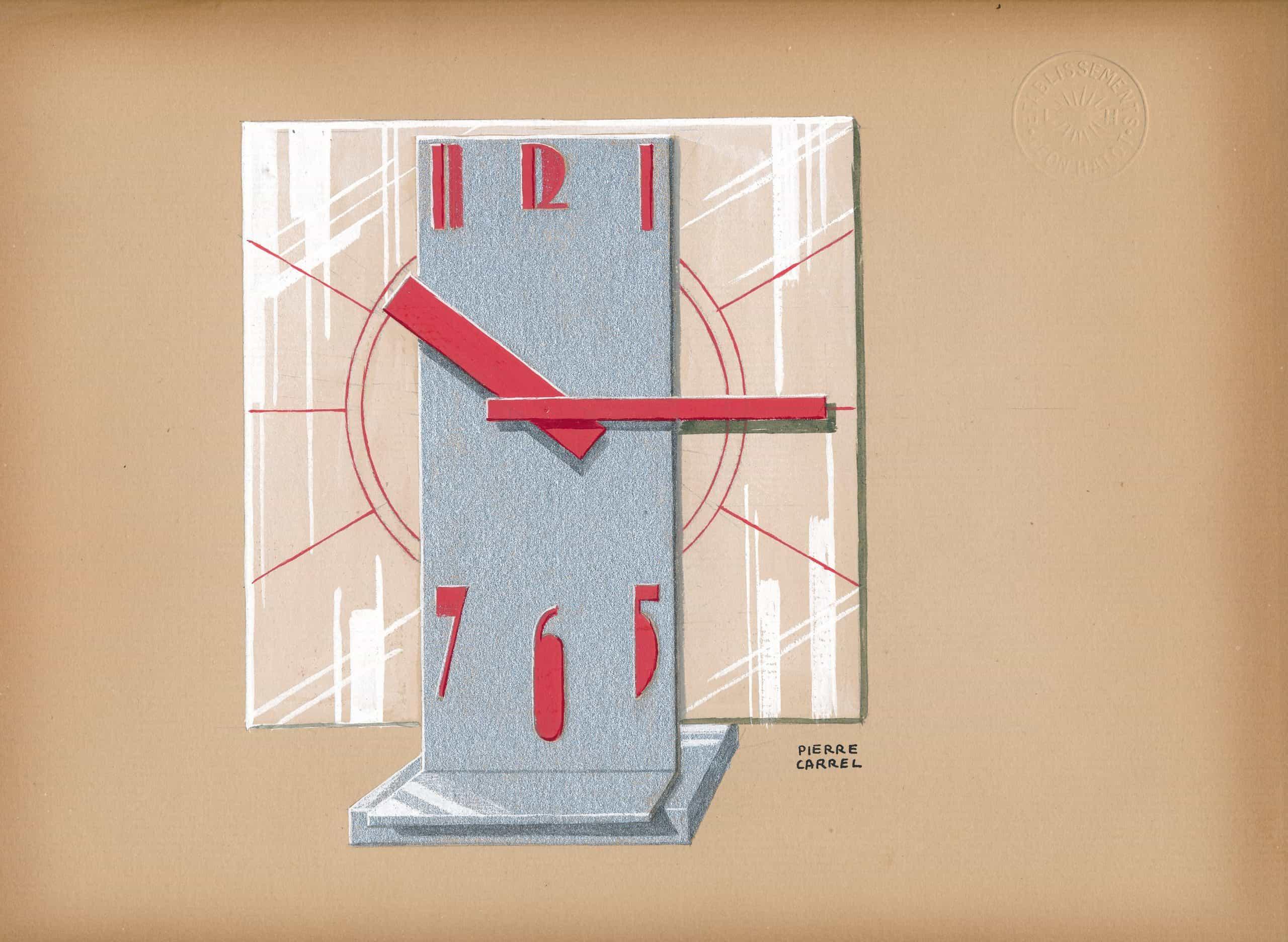 Art Deco Uhr von Pierre Carrel Ato aus dem Jahre 1932
