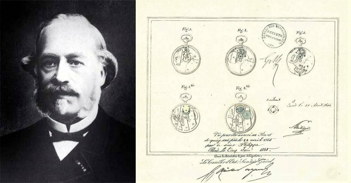 Adrien Philippe Patent für die neue Krone