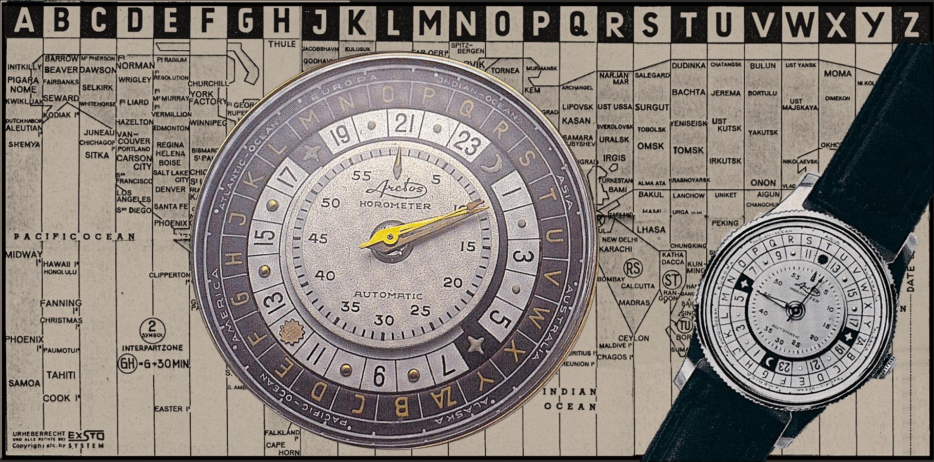 Vintage UhrArctos Horometer: Eine rätselhafte Weltzeit-Armbanduhr