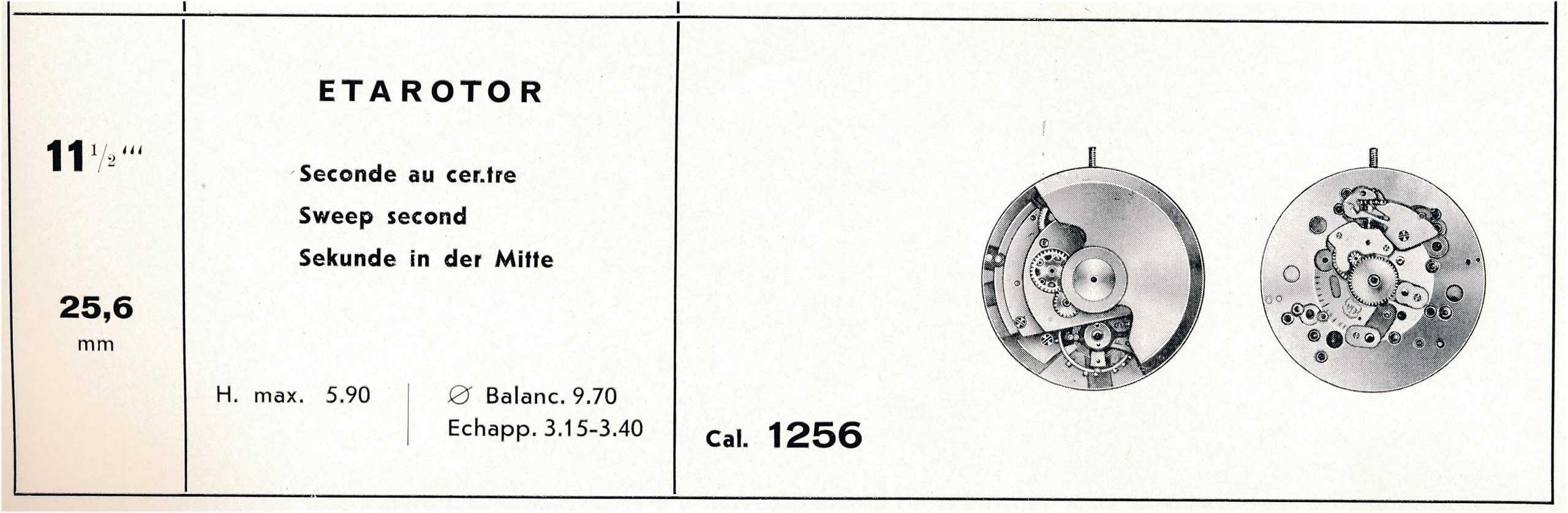 Automatikkaliber Eta 1256 1950 bis 1960 scaled