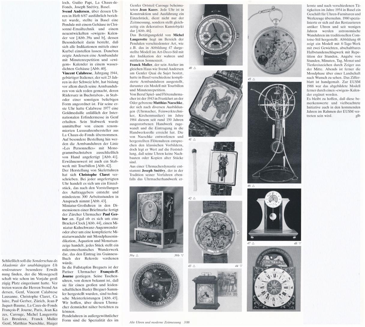 Bericht GLB Klassik Uhren AHCI 1988