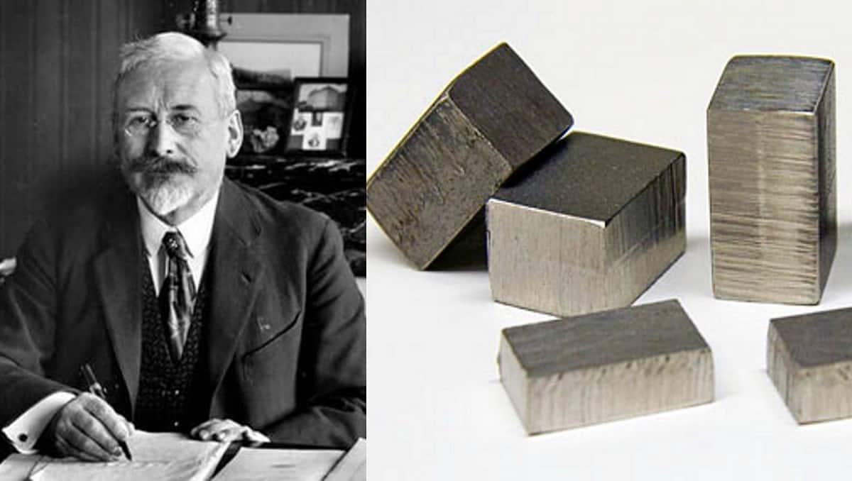 Charles Edouard Guillaume und Invar Eisen-Nickel-Legierung