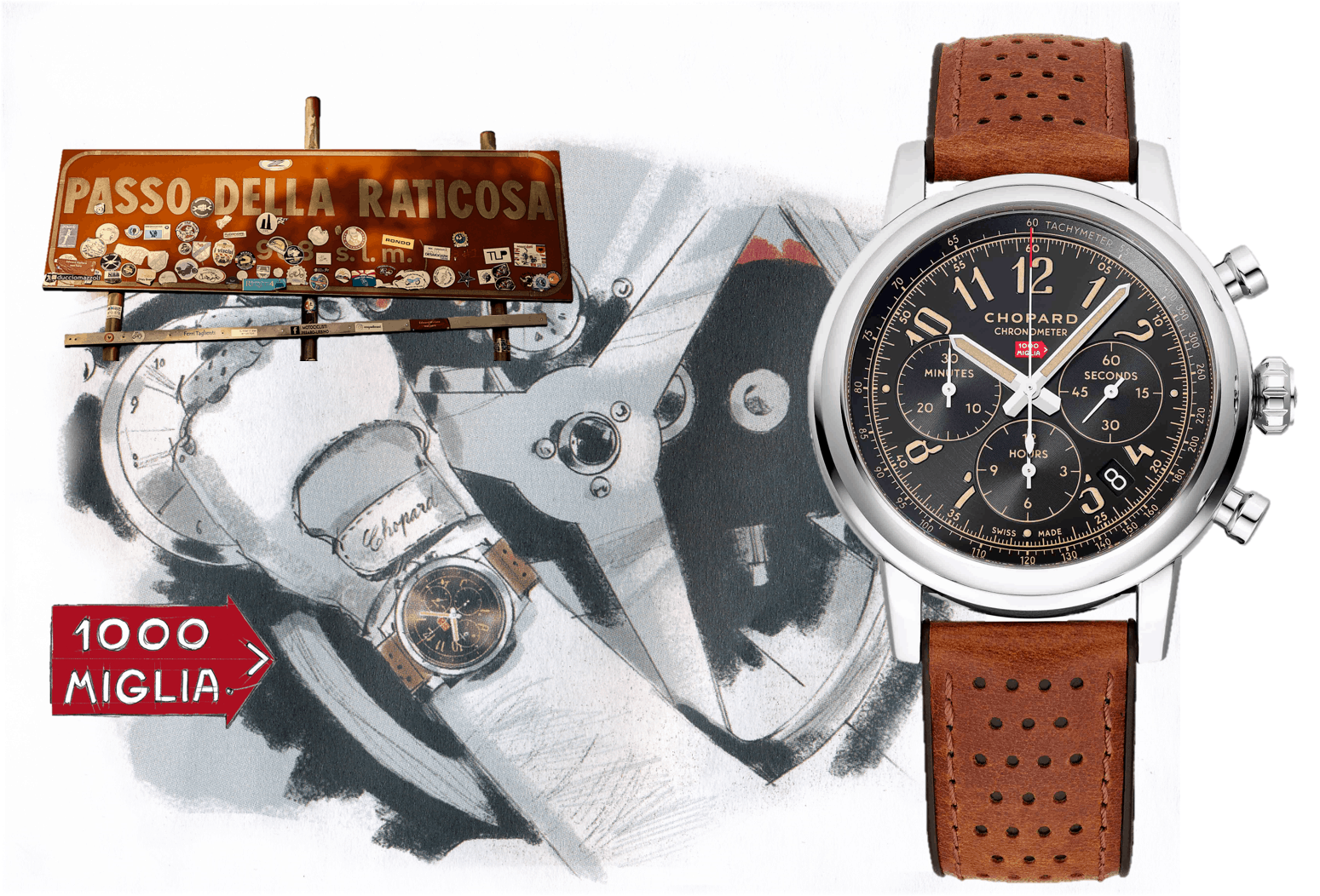 Chopard Mille Mille ChronographChopard Mille Miglia Classic Raticosa Chronograph: Die Sportive  Gentleman-Uhr