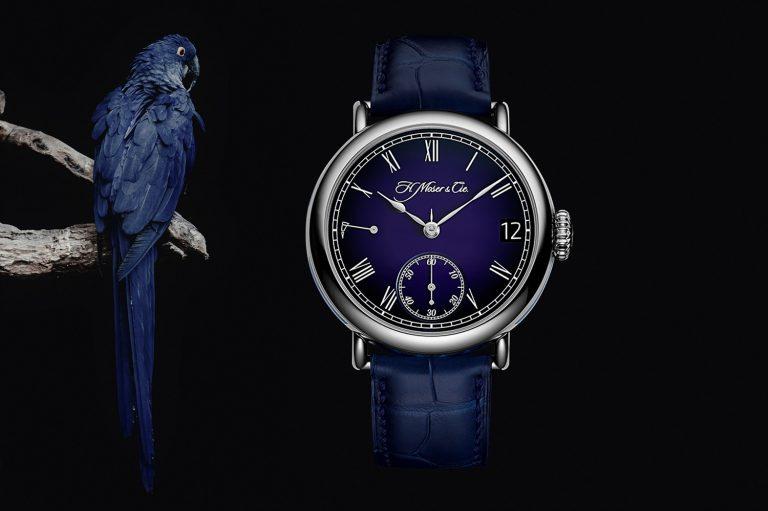 H Moser Cie Heritage Perpetual Calendar Midnight Blue Enamel