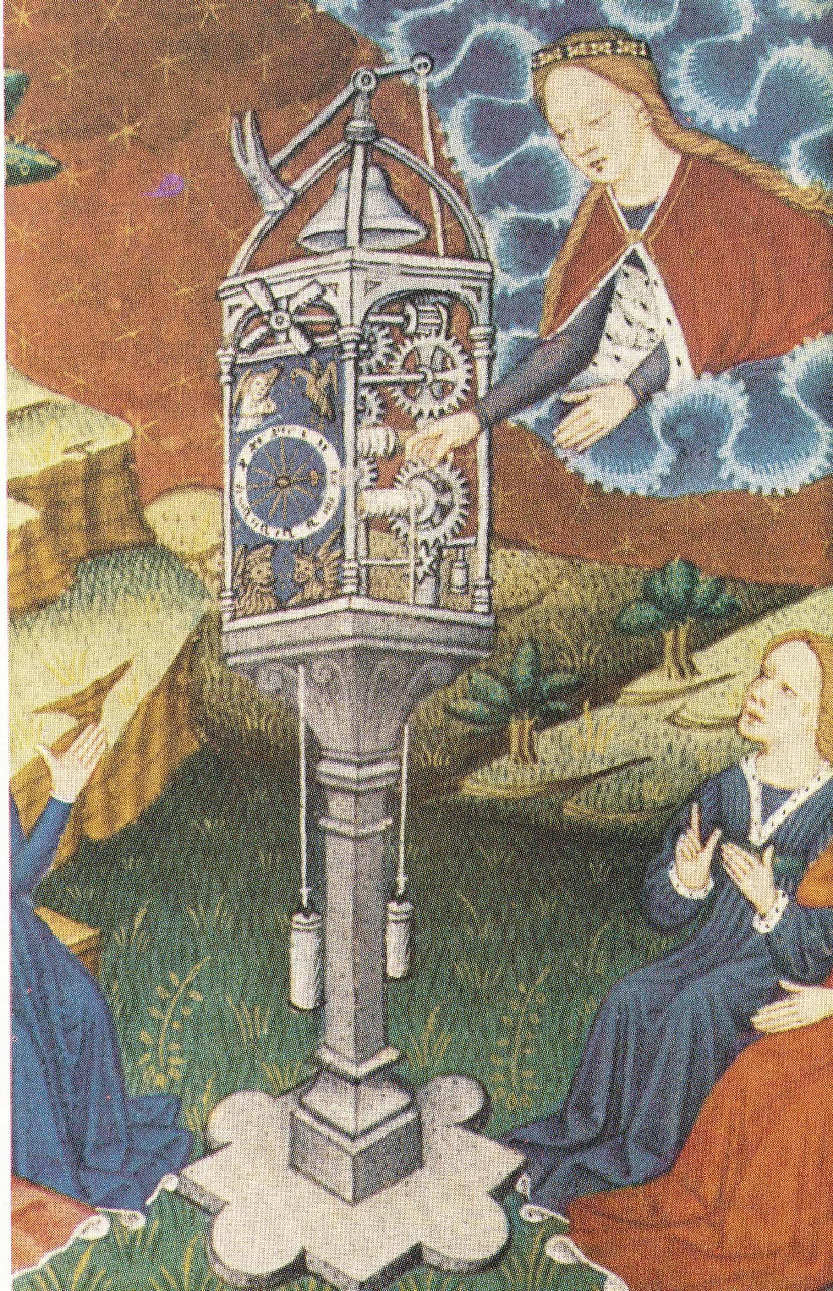 Eisenuhr mit Schlagwerk aus dem 15. Jahrhundert