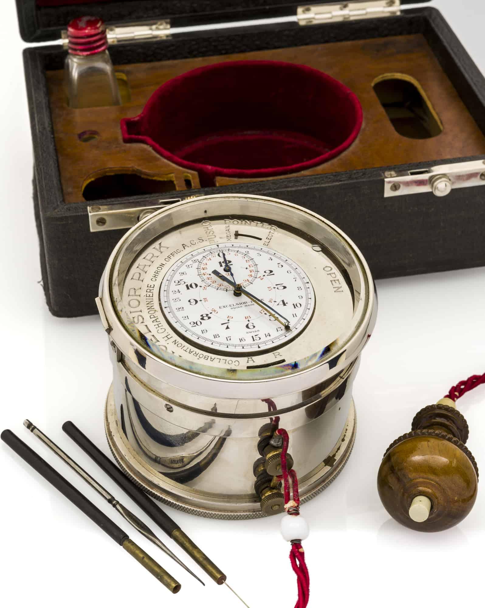 Excelsior Park Tinten Chronograph 1920 er Jahre Antiquorum