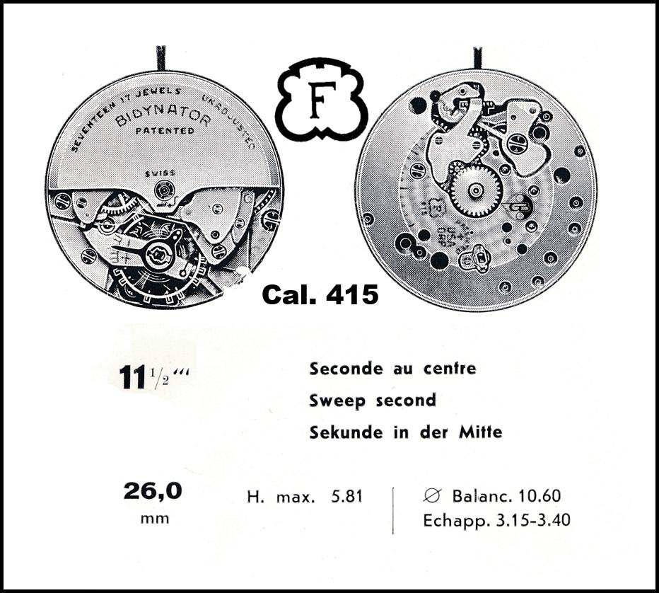 Uhrwerk Felsa 415 Bidynator von 1942