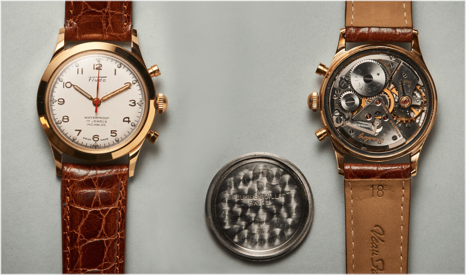 Zentraler Sekundenzeiger der Fludo Armbanduhr Kaliber 1081