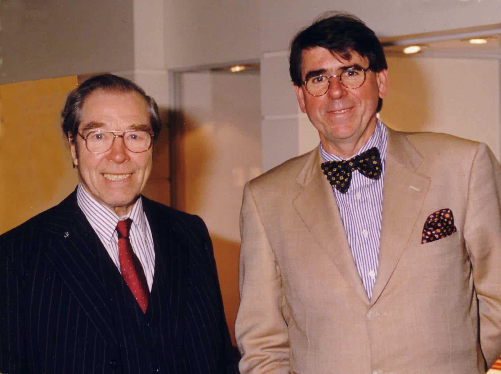 George Daniels und Gisbert Brunner im Jahre 1999