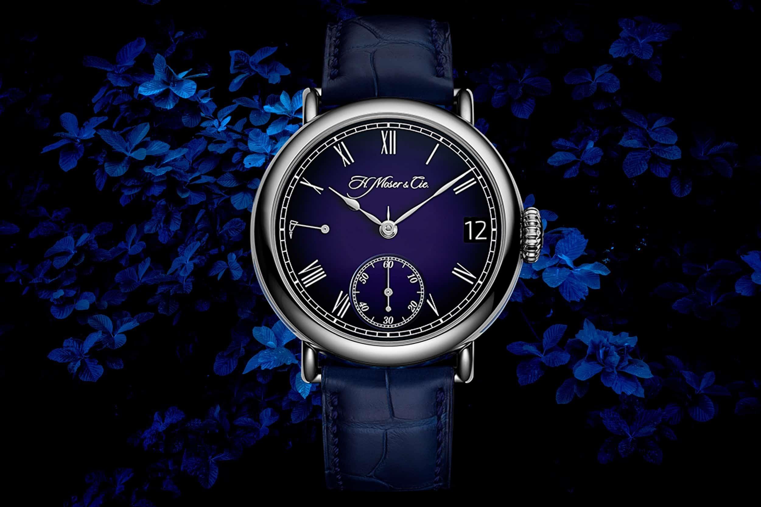 H Moser Heritage Perpetual Calendar Midnight Blue Enamel