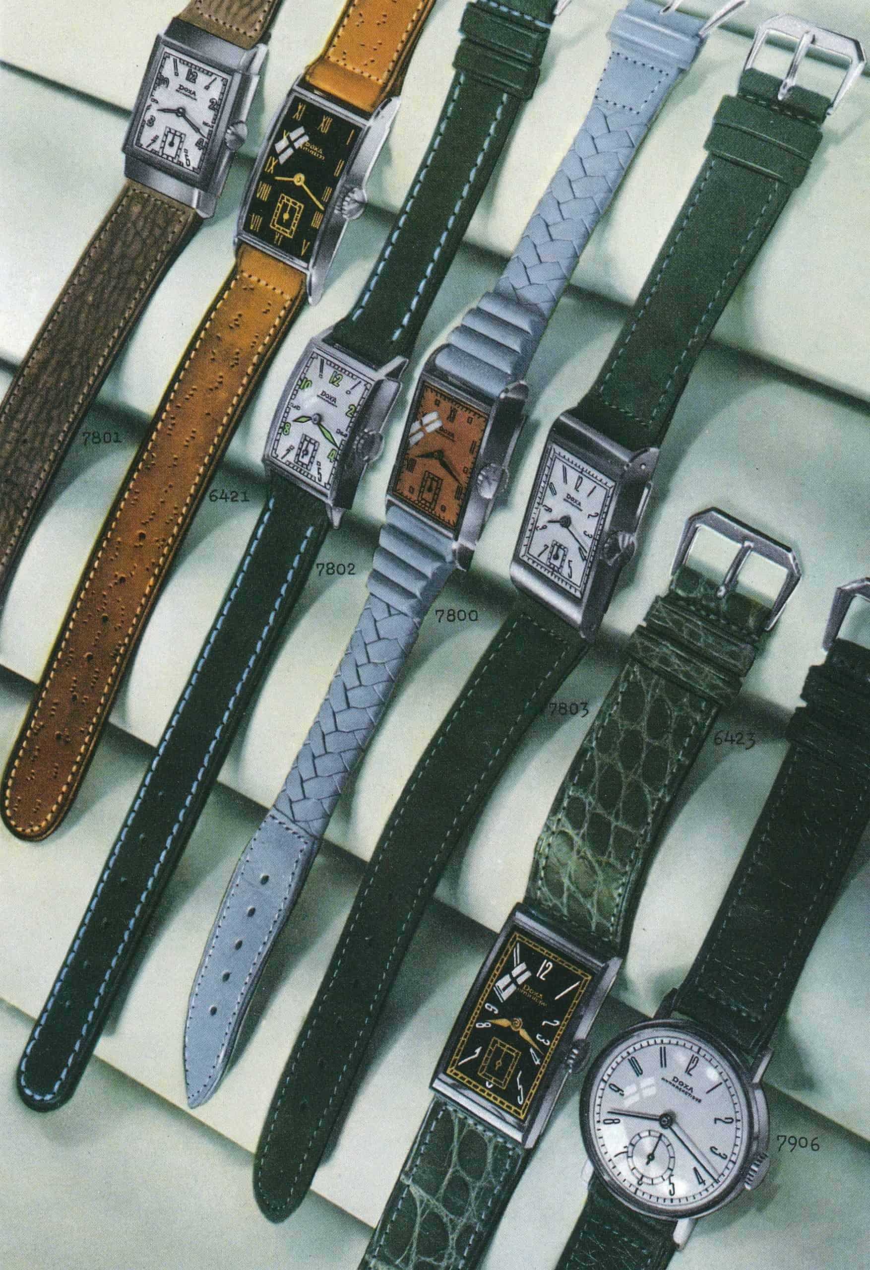 Kleine Sekunde Uhren von Doxa