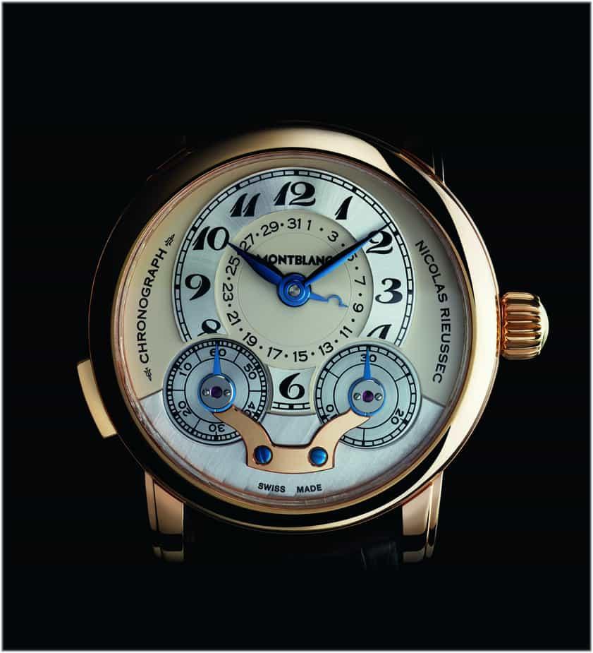 Montblanc Star Nicolas Rieussec Chronograph Handaufzug Kaliber MB R100 Gelbgold 2008