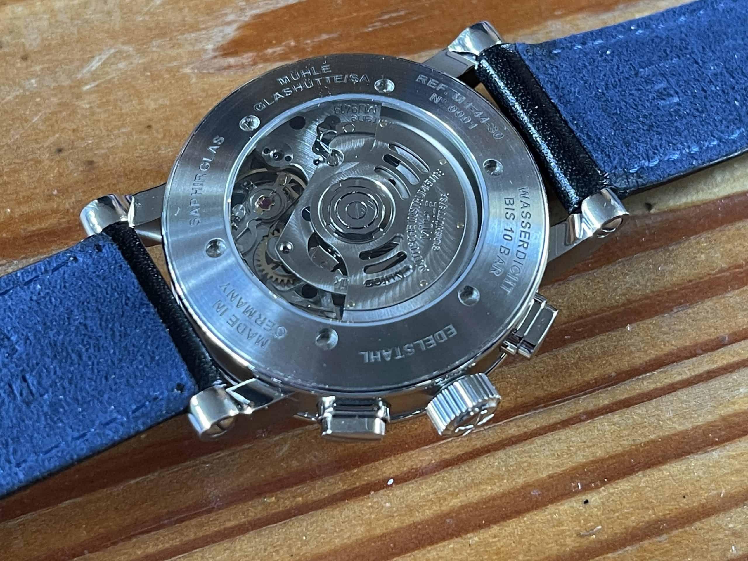 Mühle Glashütte Teutonia IV Chronograph Rückseite (C) Uhrenkosmos