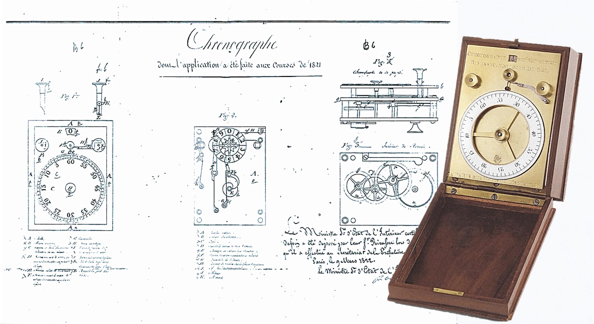 Patentanmeldung des Rieussec Chronographen im Jahr 1822
