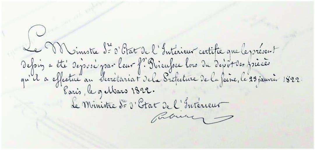Nicolas Mathieu Rieussec Patentantrag Chronograph 1822