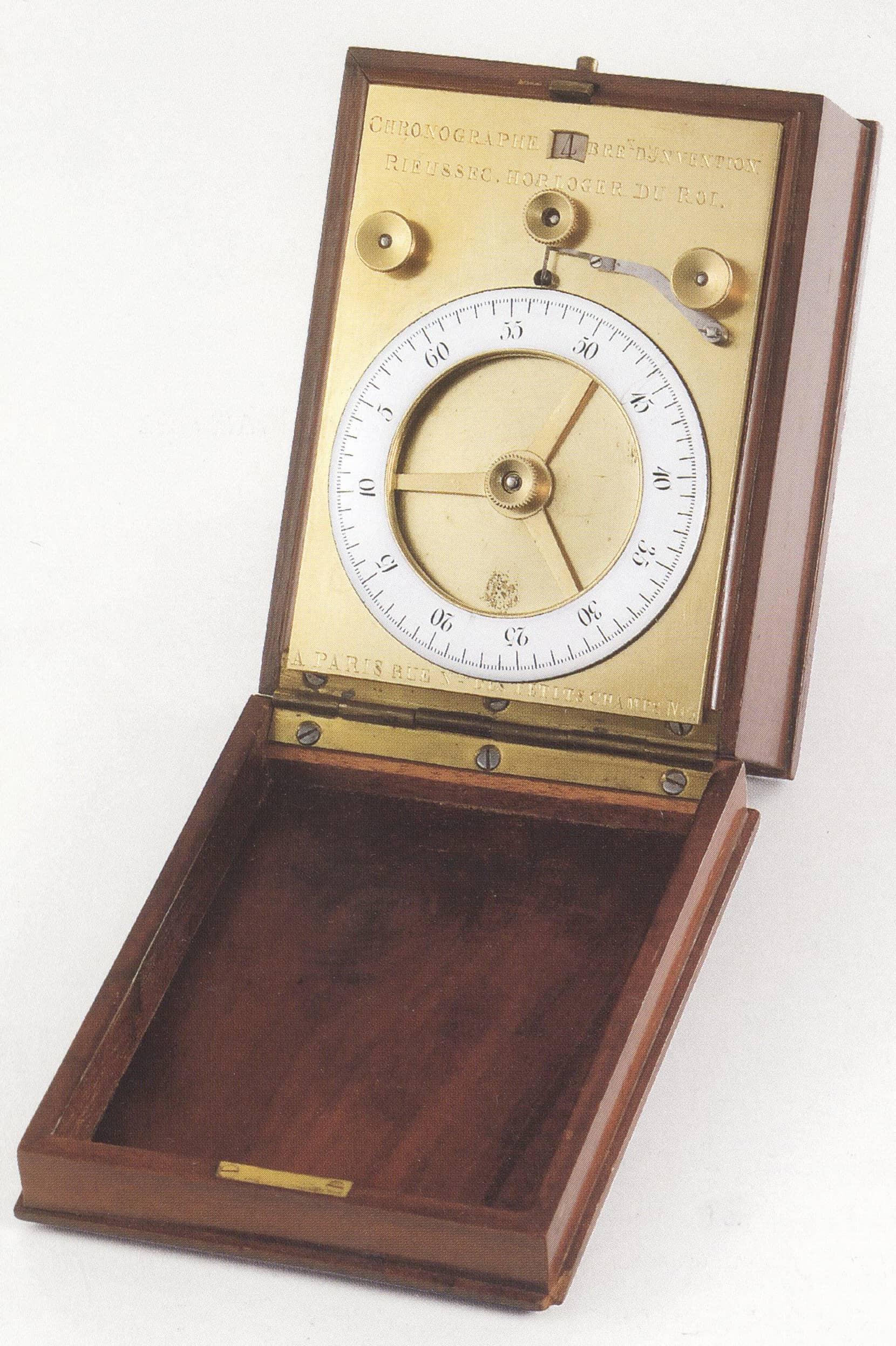 Der Chronograph von Rieussec mit seinem digitalen Zähler von bis zu zehn Minuten