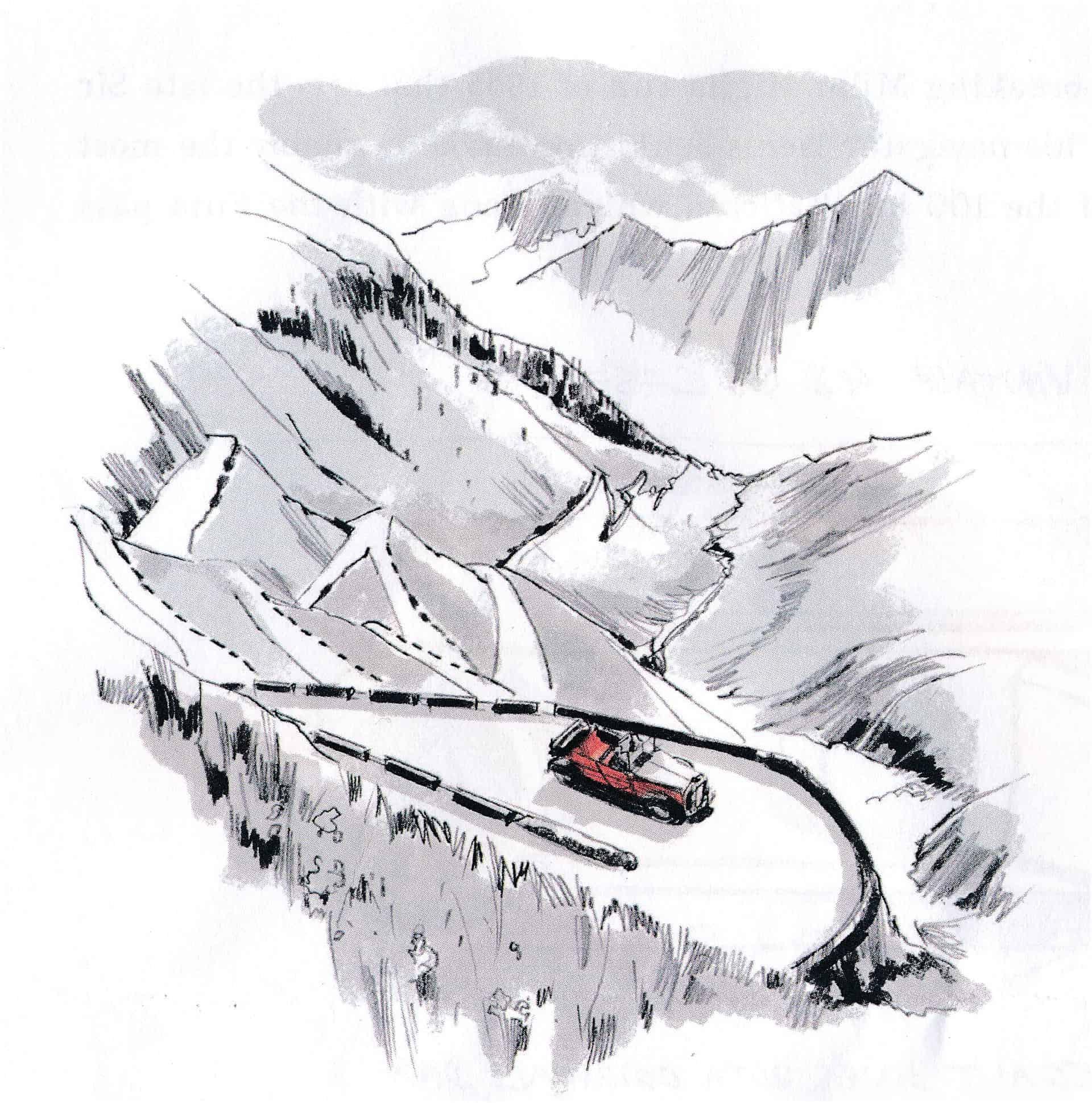 Passo della Raticosa Zeichnung