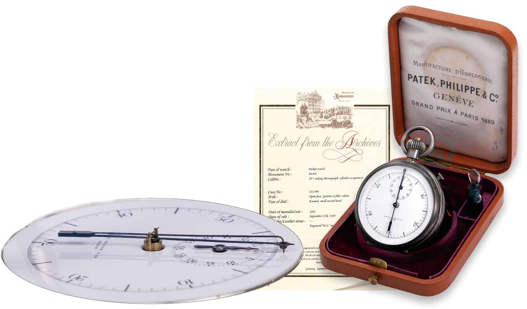 Patek Philippe Tinten Chronograph 1891 C Antiquorum.