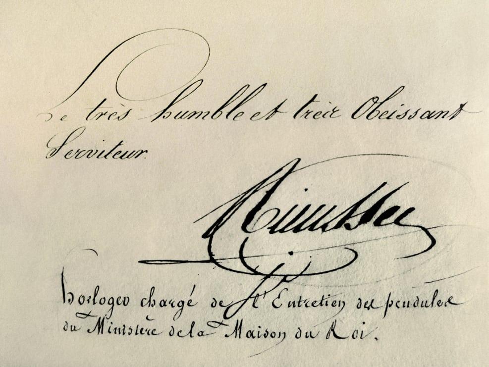Unterschrift von Rieussec